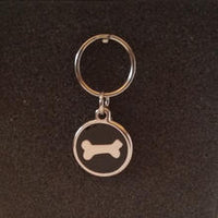 Deluxe Small Bone Dog/Cat Id Tag - Black