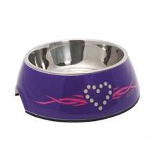 Rogz Bubble Dog Bowl - Purple Chrome - Large