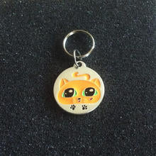 GoPet Orange Kitty - Cat Id Tag