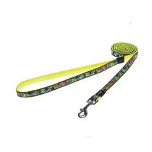 Rogz Dog Fixed Lead - Dayglo Floral