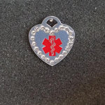 Heart Shaped Medical Id Tag