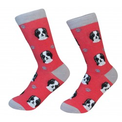 Black Shih Tzu Socks