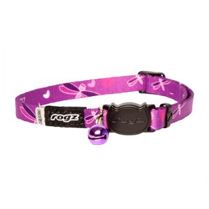 KiddyCat Safeloc Collar - Purple Dragonfly