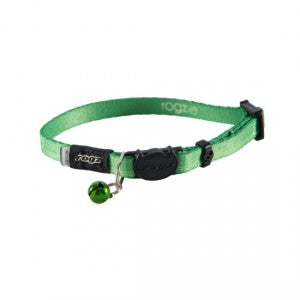 KiddyCat Safeloc Collar - Lime Paws