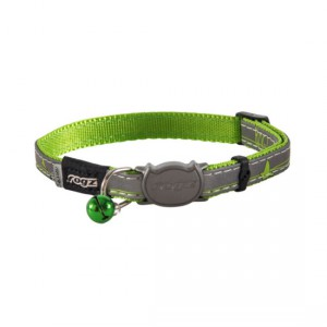 Rogz Nightcat Safeloc Collar - Lime Swallows