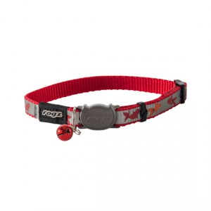 Rogz Reflectocat Safeloc Collar - Red Fish