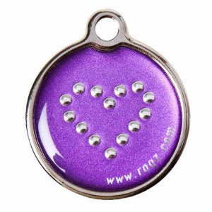 Rogz Purple Chrome - Large Dog Id Tag