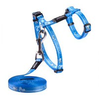 Rogz Kiddycat Harness & Lead - Royal Birds