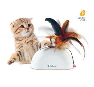 GiGwi Pet Droid Feather Hider - With Motion Sensor - Cat Toy