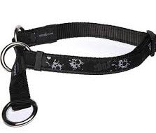 Rogz Web Half-Check Obedience Dog Collar - Paint Paw - Large