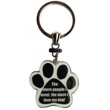 The more people I meet, the more I love my dog! - Key Chain