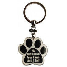 My Kids Have Four Paws And A Tail - Key Chain