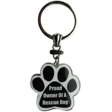 Proud Owner Of A Rescue Dog - Key Chain