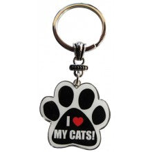I Love My Cats! - Key Chain