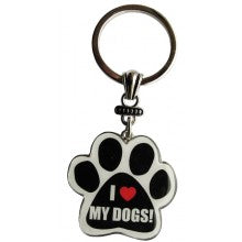I Love My Dogs! - Key Chain