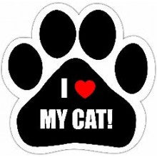 I Love My Cat - Car Magnet