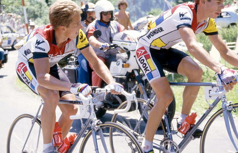 Greg LeMond racing in the Tour de France