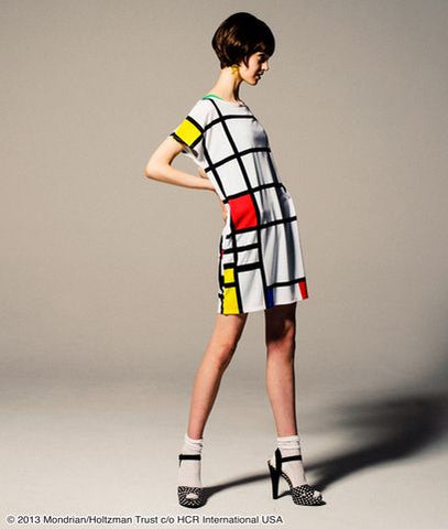 Mondrian pattern dress