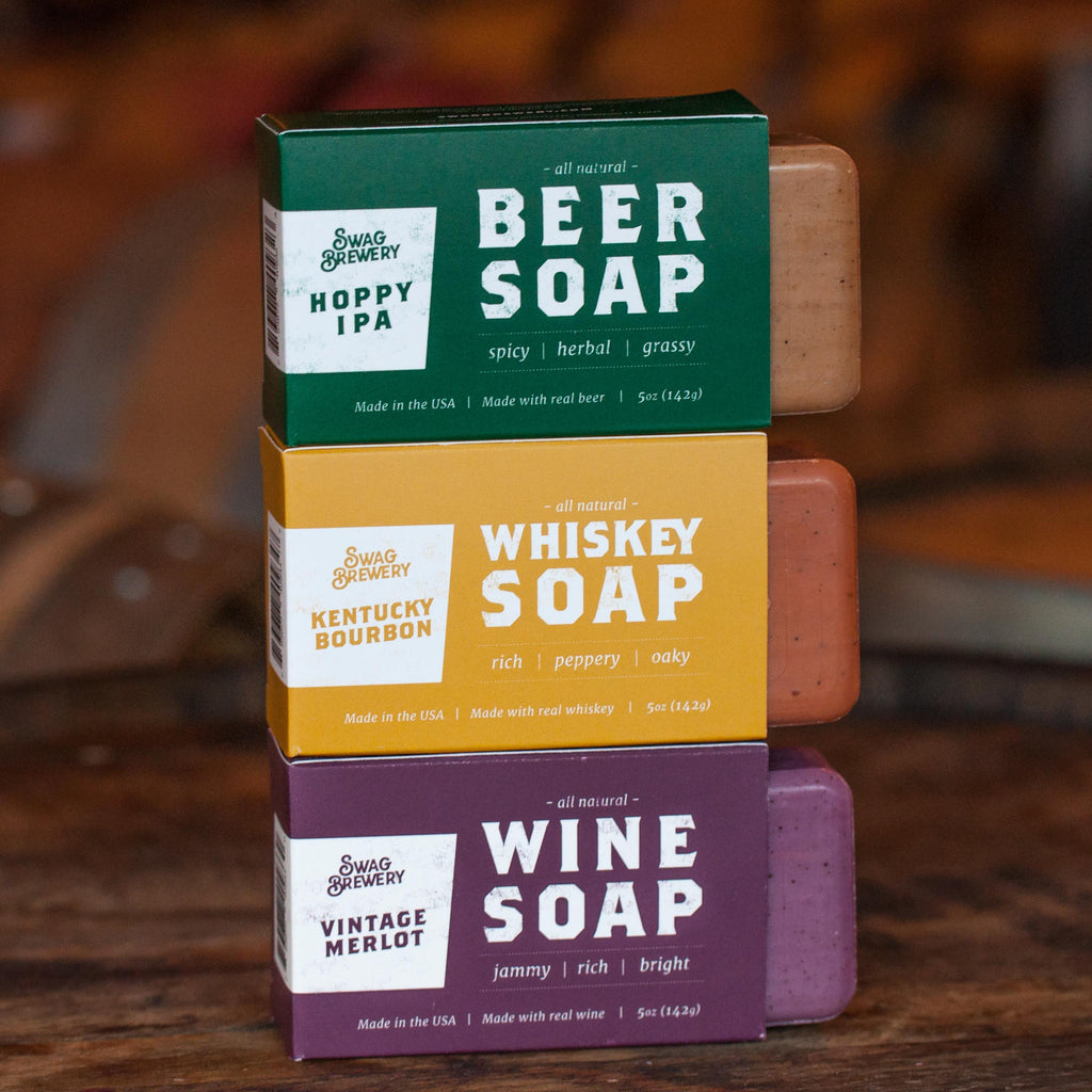 WHISKEY SOAP + WINE SOAP + BEER SOAP