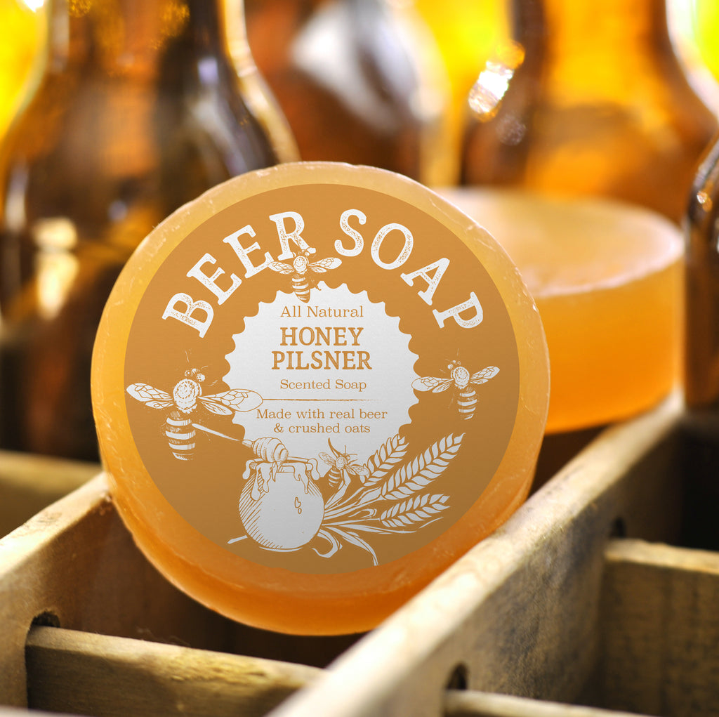 Beer Soap with Honey Pilsner and Oats