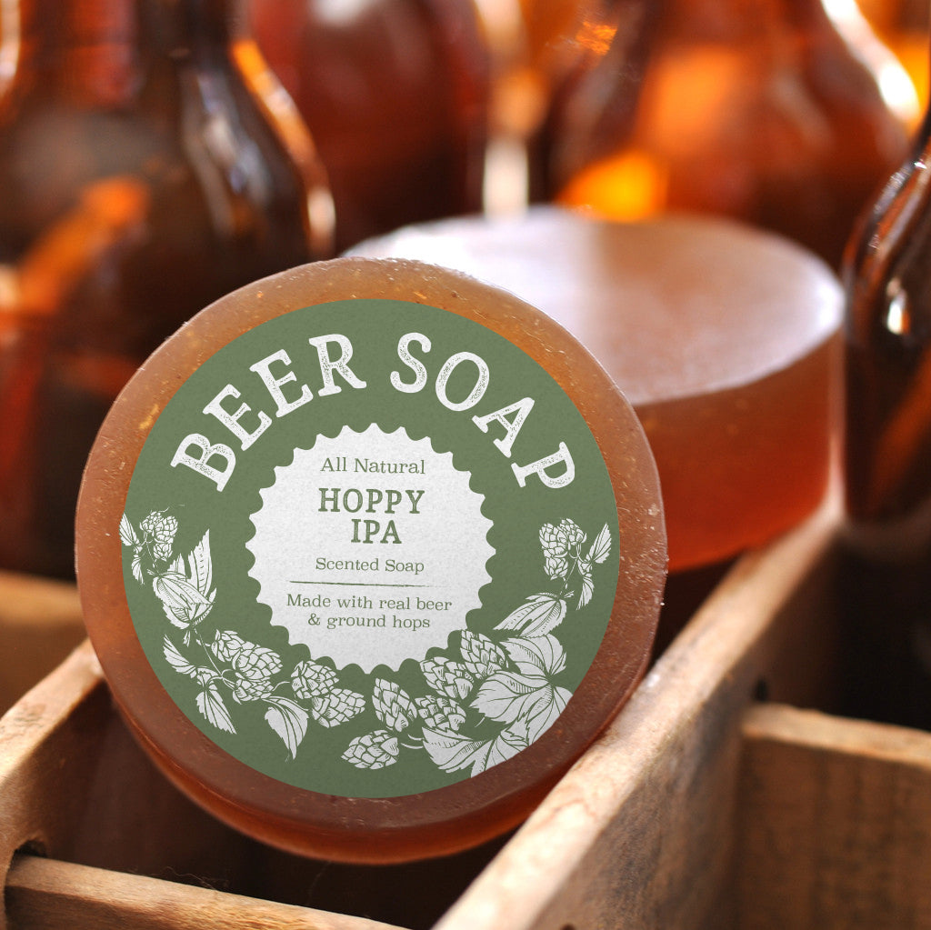 Beer Soap with IPA and Ground Hops