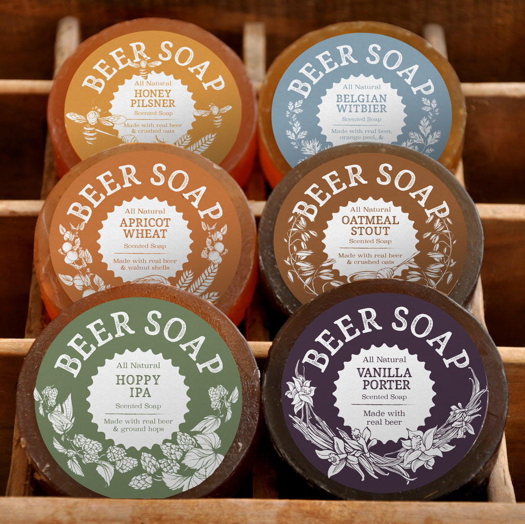Beer Soap 6-pack - Perfect Gift For Beer Lovers + Made in USA + Actually Smells Good!
