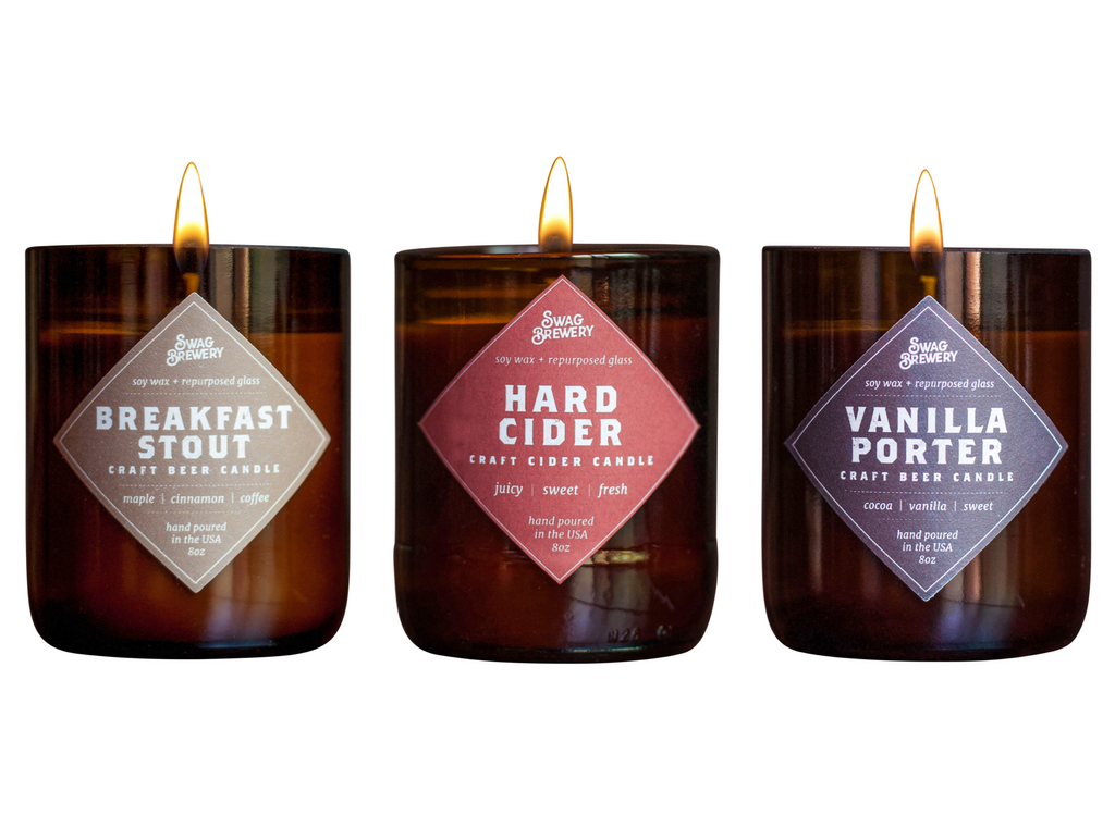 The Brew Candle 3-Pack (Breakfast Stout + Hard Cider + Vanilla Porter)