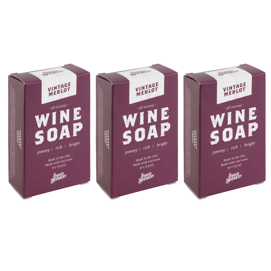 Wine Soap (Vintage Merlot) - 3-PACK