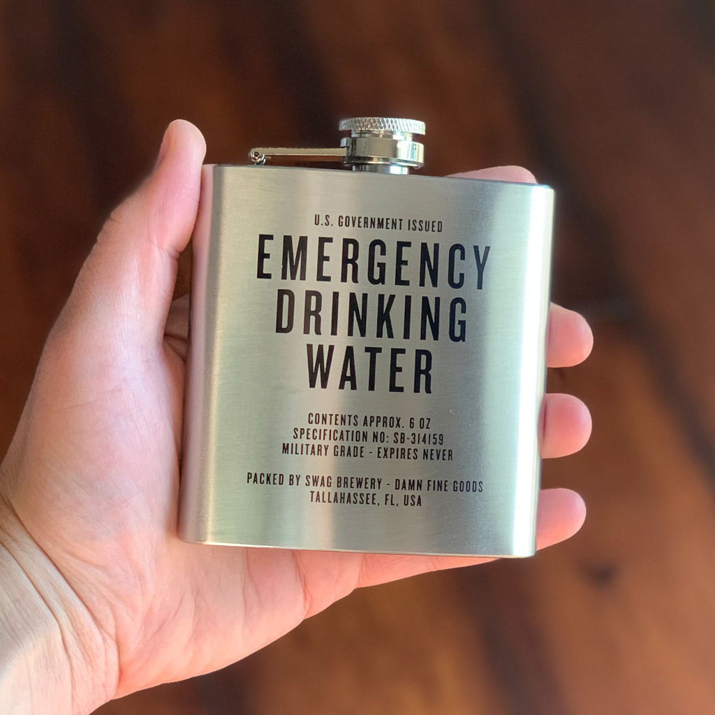 Emergency Drinking Water - Honest Flask