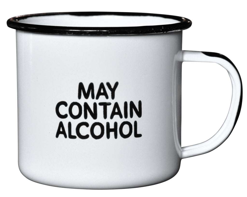 May Contain Alcohol - Enamel Campfire Mug