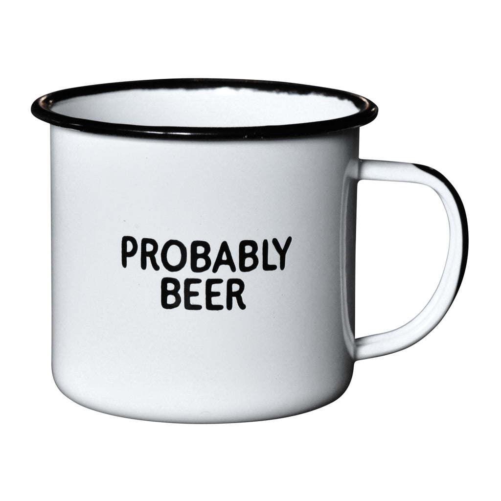 Probably Beer - Enamel Campfire Mug