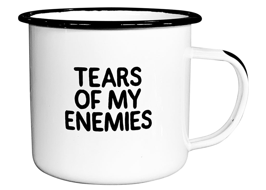 Tears of My Enemies - Enamel Campfire Mug