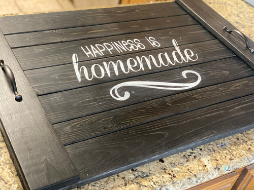 Happiness is Homemade Noodle Board - Stove Cover - Farmhouse Decor