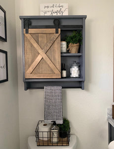 Customized Barn Door Cabinet