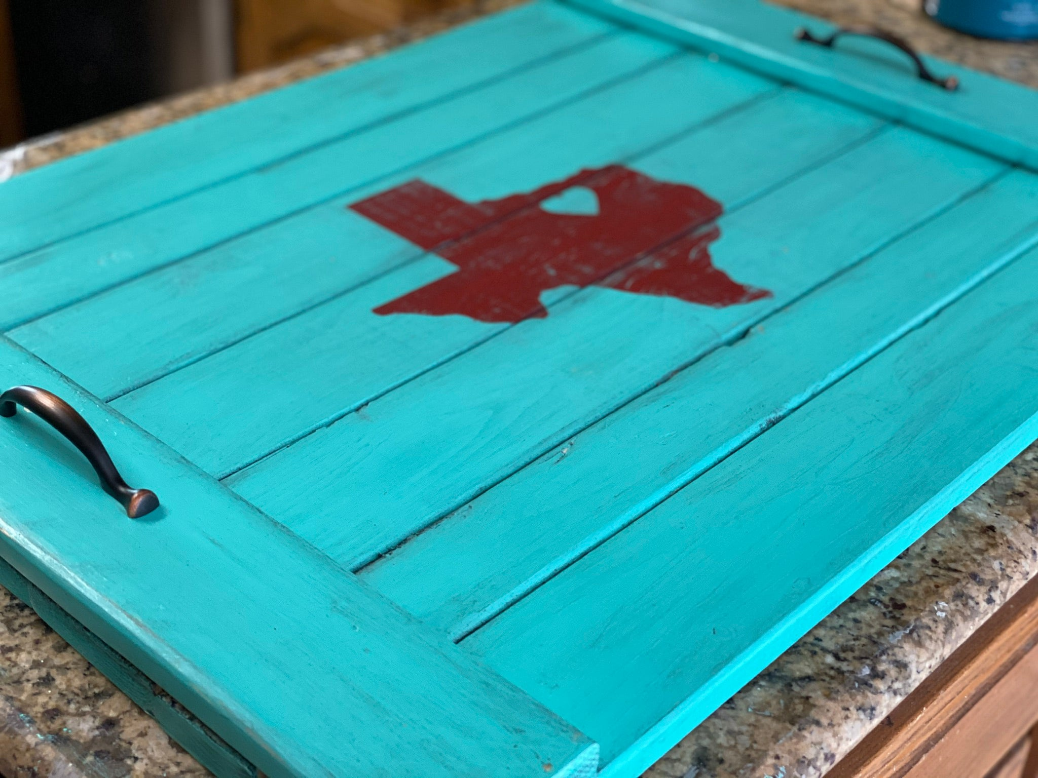 Texas Silhouette Noodle Board - Stove Cover - Farmhouse Decor
