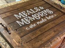 Load image into Gallery viewer, Meals & Memories Noodle Board - Stove Cover - Farmhouse Decor