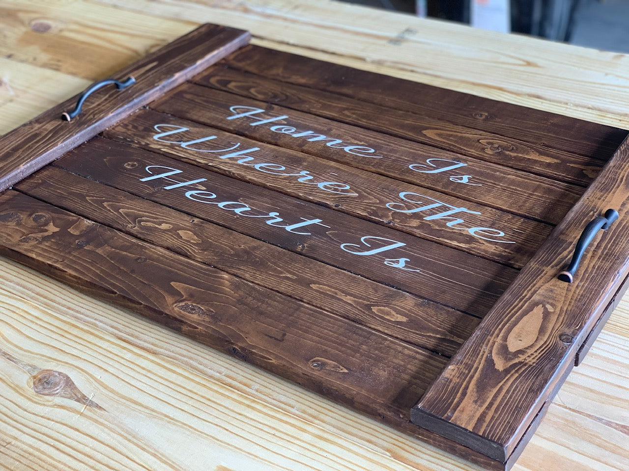 Home is Where the Heart is Noodle Board - Stove Cover - Farmhouse