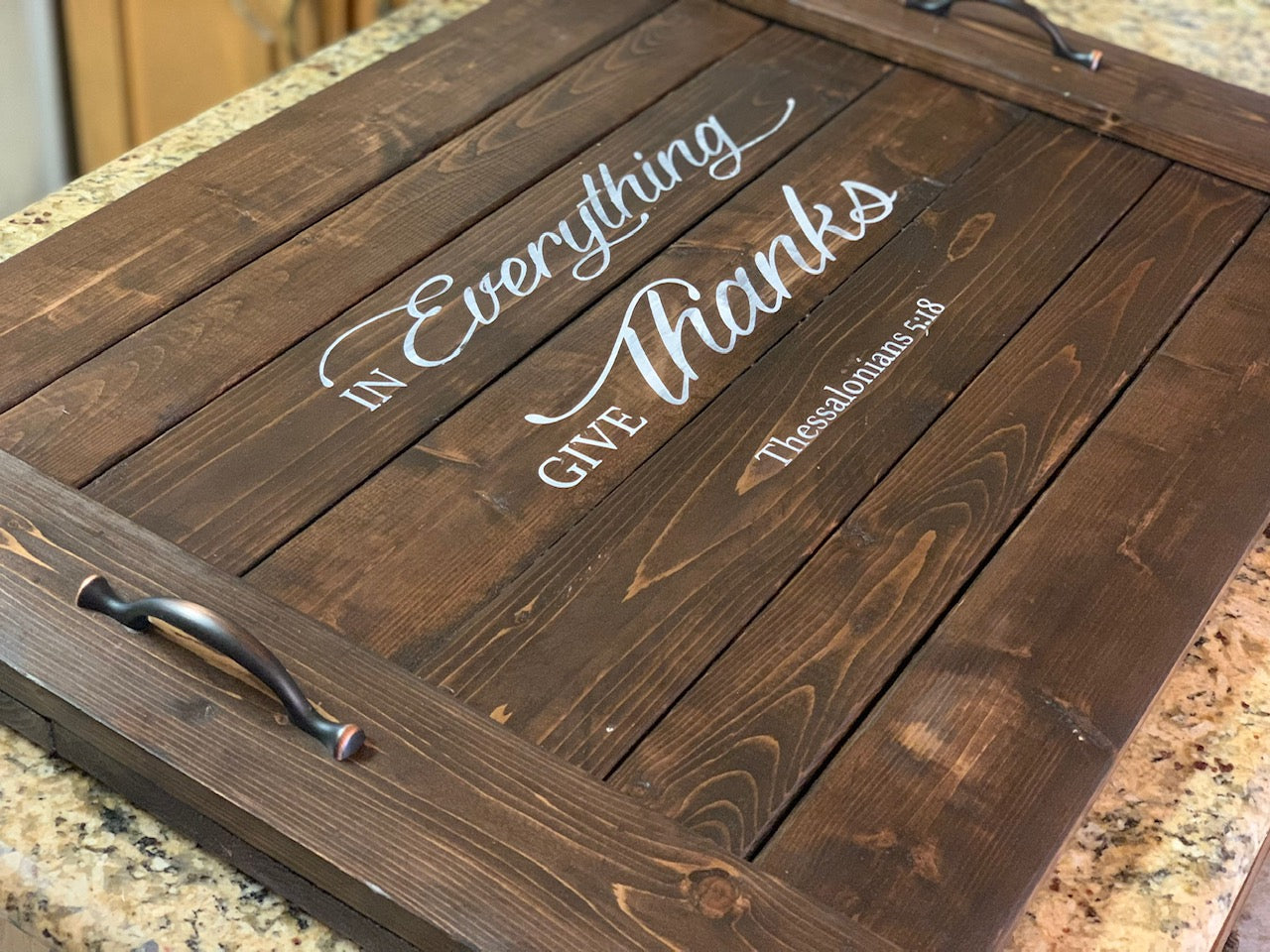 In Everything Give Thanks Noodle Board - Stove Cover - Farmhouse Decor