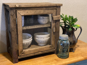 Rustic Tabletop Pie Safe
