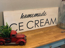 Load image into Gallery viewer, Homemade Ice Cream Sign