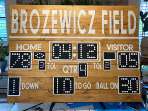 Football Family Scoreboard