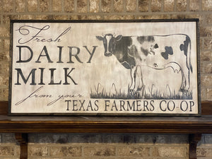 Fresh Dairy Milk Sign