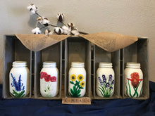 Load image into Gallery viewer, Hand Painted Wildflower Mason Jars