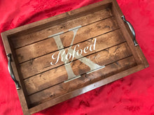 Load image into Gallery viewer, Personalized Rustic Serving Tray