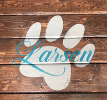 Load image into Gallery viewer, Personalized Paw Print Tray