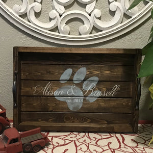 Personalized Paw Print Tray