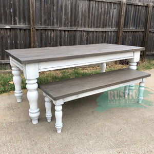 Farmhouse Chunky Leg Table