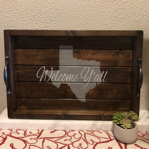 State Silhouette Serving Tray