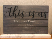 Load image into Gallery viewer, This Is Us Sign - Rustic Farmhouse Sign