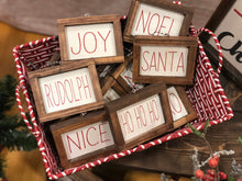 Load image into Gallery viewer, Farmhouse Christmas Word Ornaments - Framed